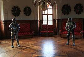knights at trakoscan castle in zagorje region
