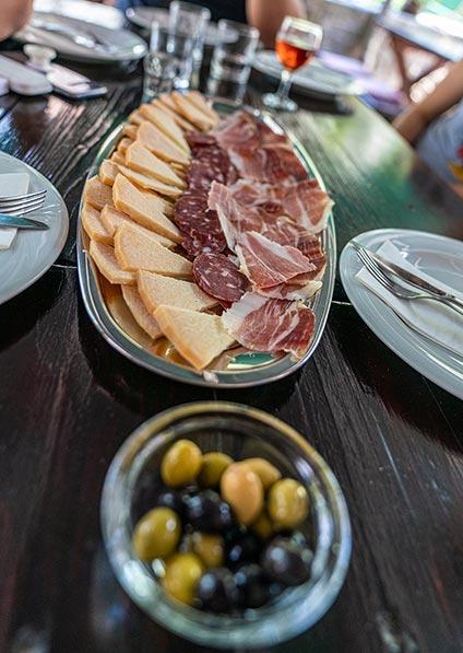 Traditional Dalmatian Delicacies served on Brac Island