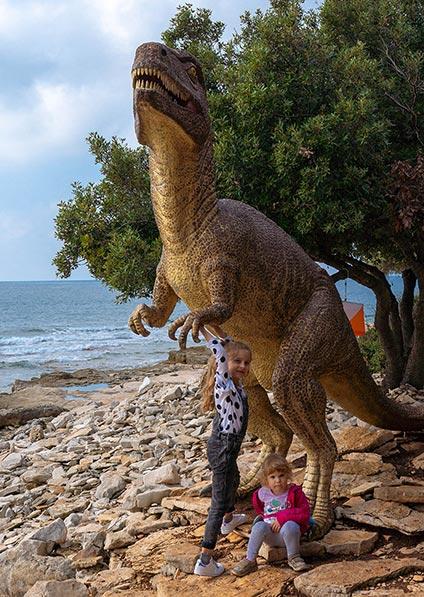 family tour of Croatia on a visit to Dino Park Brijuni