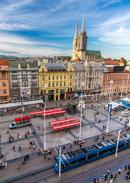 Day 1, enjoy a private guided walking tour of zagreb's historical center
