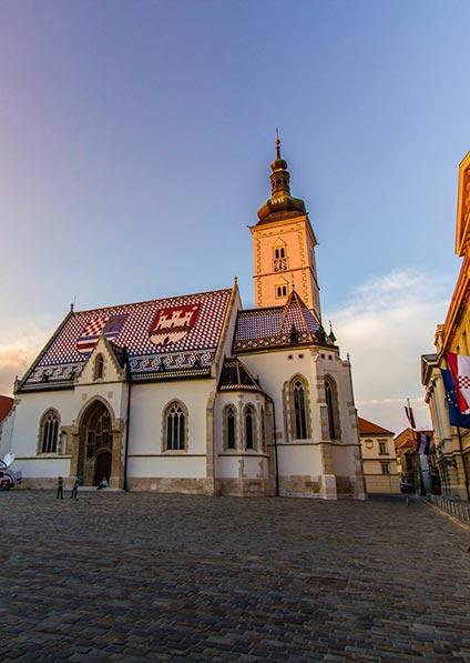 Day 1, church of St. Mark in historical Zagreb Center