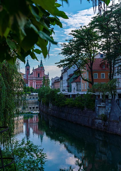 Day 1, enjoy a private guided walking tour of Ljubljana's historical center