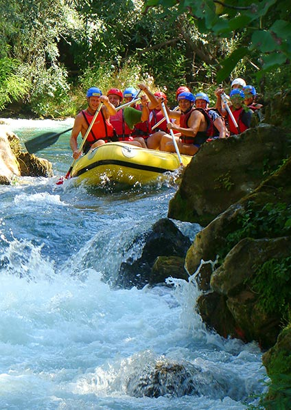 Day 10, enjoy an adrenaline-powered rafting on Cetina river followed by zip line