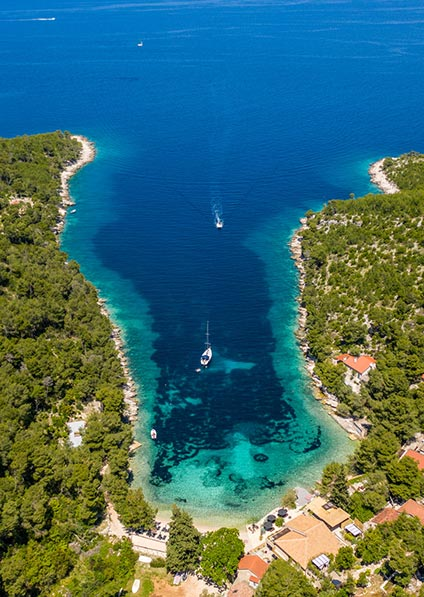 Day 10, a private yact tour of Hvar Island and the nearby Pakleni archipelago