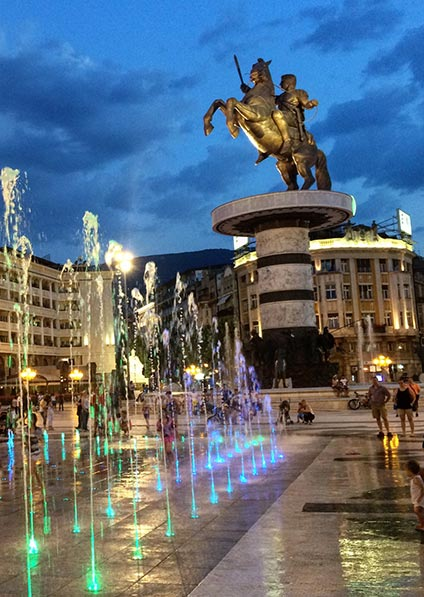 Day 19, private guided walking tour of Skopje city center