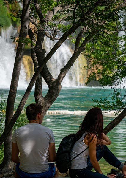 Day 2, enjoy a private guided walking tour of Plitvice Lakes National Park