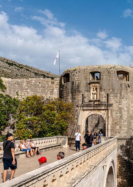 Day 2, enjoy a private guided walking tour of Dubrovnik's Old Town and the City Walls