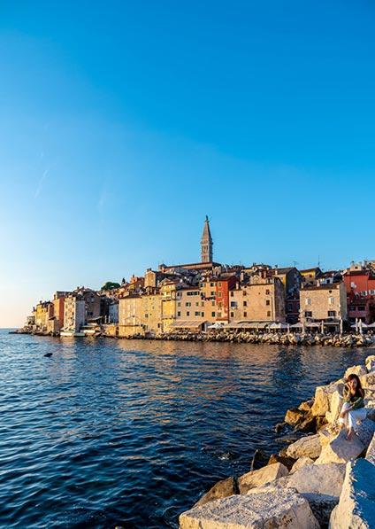 Day 5 - the charming Istrian town of Rovinj will be your departing point
