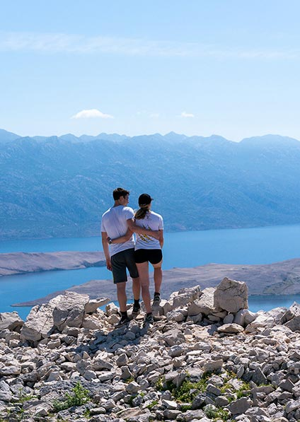 enjoy a private guided hiking tour of Pag Island known for many gastronomic delights