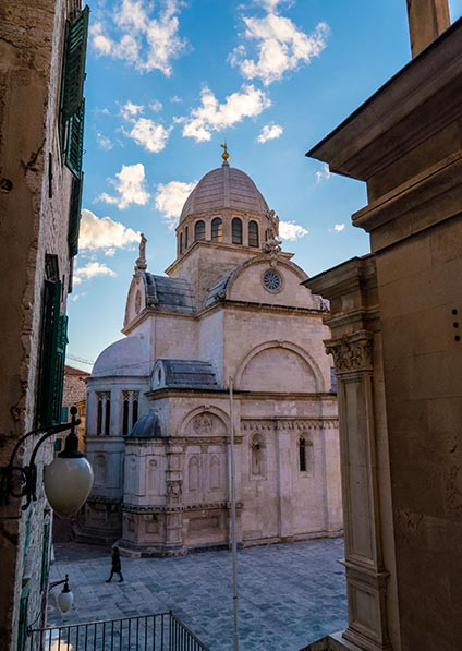 Day 6, en route to split, stop for a private guided walking tour of Šibenik city center, including the Saint James cathedral