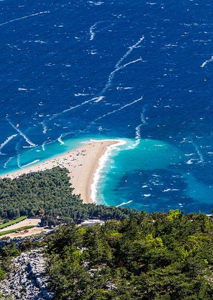 Day 6, Zlatni Rat beach in Croatia