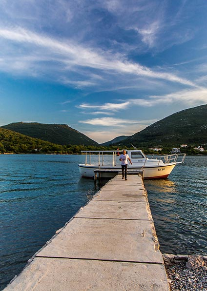 Day 6, visit the lovely bay of Ston and enjoy oyster tasting with a light seafood lunch