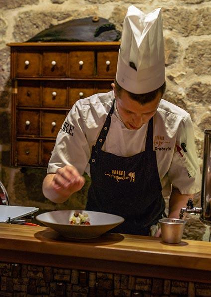 Day 6, enjoy a wine pairing dinner served at restaurant Pelegrini in Šibenik