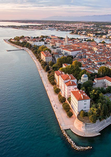 enjoy a private guided walking tour of Zadar old town