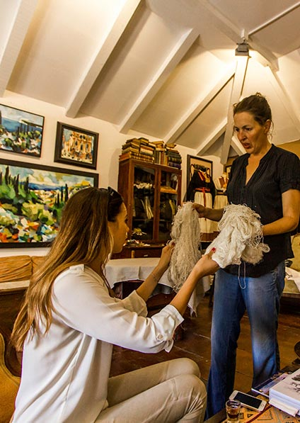 Day 8, a silk making presentation in Dubrovnik region