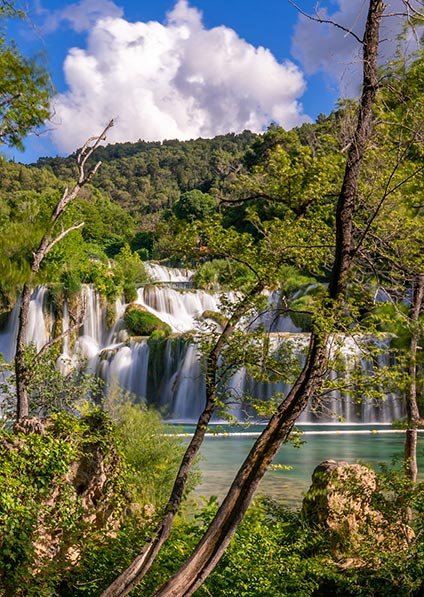 Day 9, enjoy a private guided walking tour of Krka Waterfalls National Park
