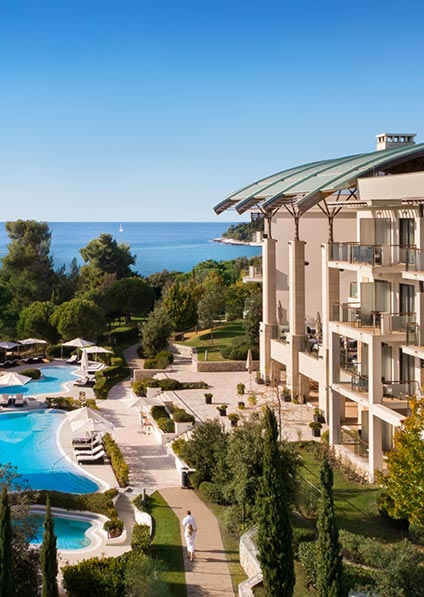 hotel Monte Mulini in Rovinj offers excellent service, stunning views, and makes for a perfect getaway