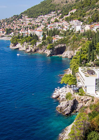 hotel villa Dubrovnik is only a few minuntes away from Dubrovnik old town and near dubrovnik's favorite st. jacob's beach, featuring beautiful views and exceptional service