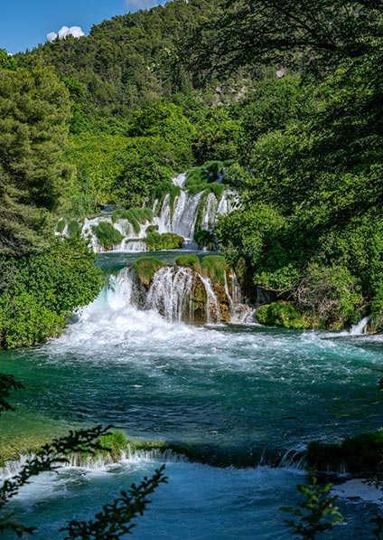 visit Krka waterfalls national park as a part of our travel to Balkans program