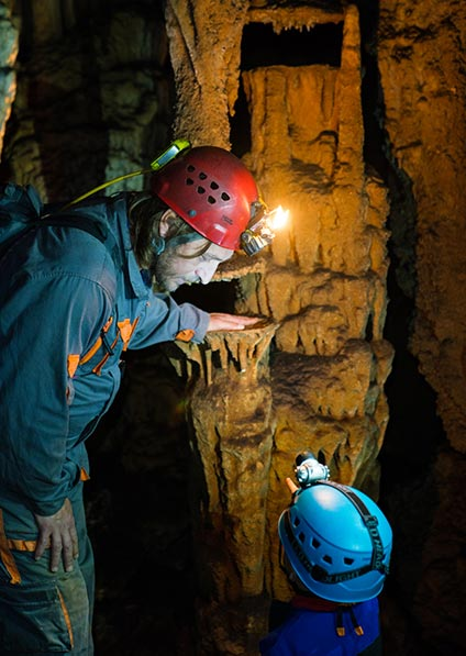 Caving for all ages at Modric cave in Croatia