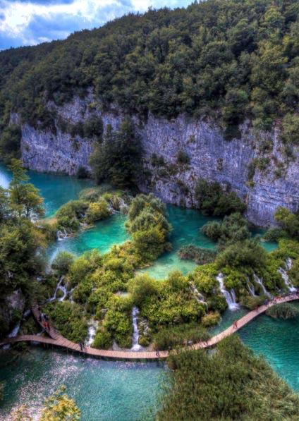 National park Plitvice lakes hike