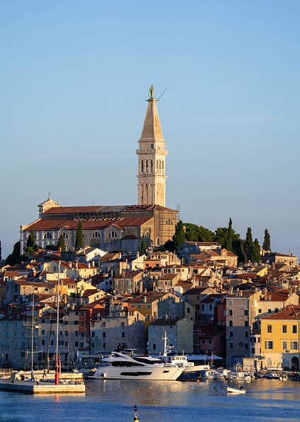 visit Rovinj old town as a part of our travel to Balkans program