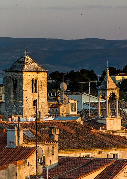 visit and explore the old town of Split for the Jewish heritage