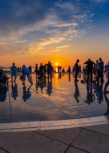 visit Zadar and its highlights as a part of our Slovenia to Montenegro tour