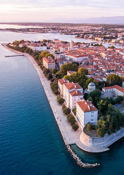 a private guided walking tour of Zadar old town