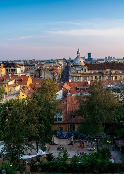 Zagreb walking tour, Croatia off season