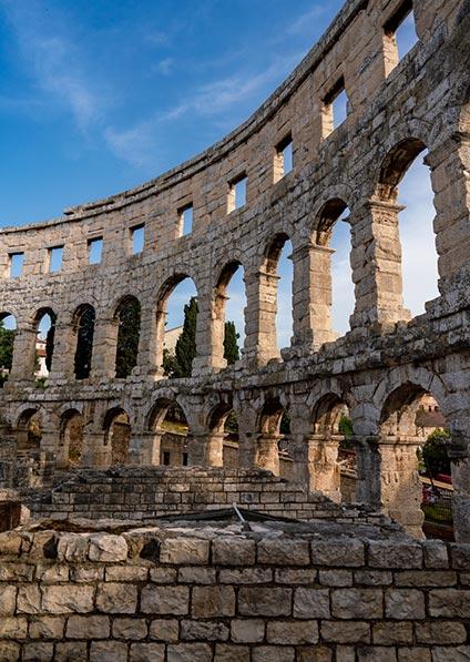 Roman amphitheater of Pula
