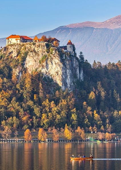 visit Bled lake during your stay in Slovenia as a part of our slovenia to Montenegro program