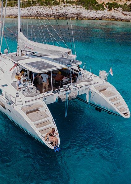 Catamarans charter Croatia