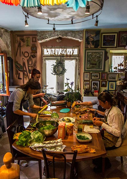 Private cooking class in 16th century stone house in the Old Town of Trogir
