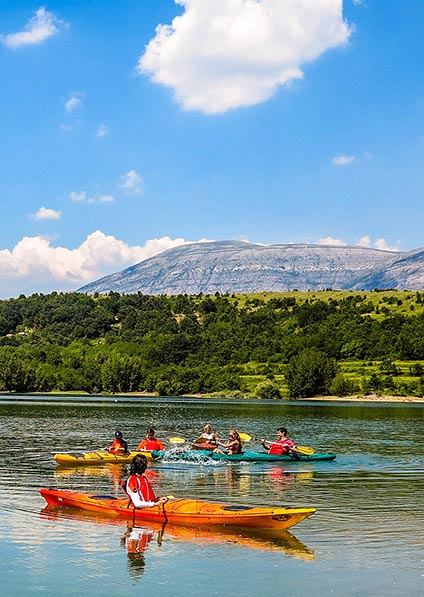 enjoy a family kayak as a part of our Croatia for Families program