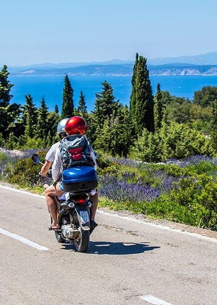 romantic scooter ride Hvar island honeymoon in Croatia