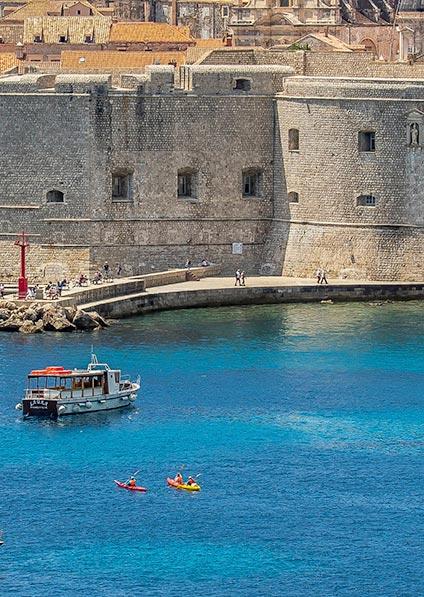 enjoy a sea kayak adventure in Dubrovnik