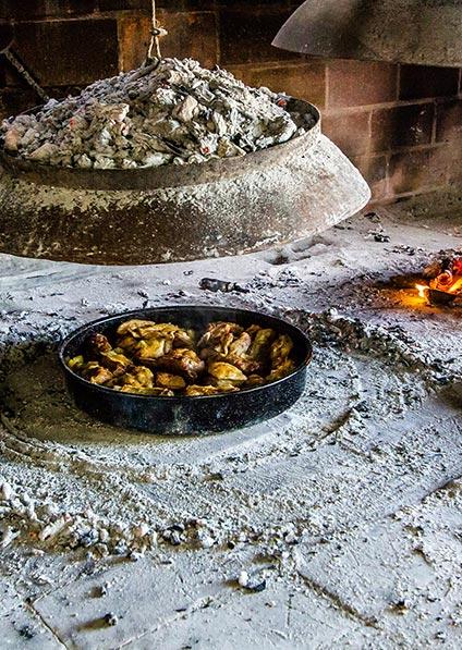 Traditional Croatian peka cooking at a tavern on Brac Island