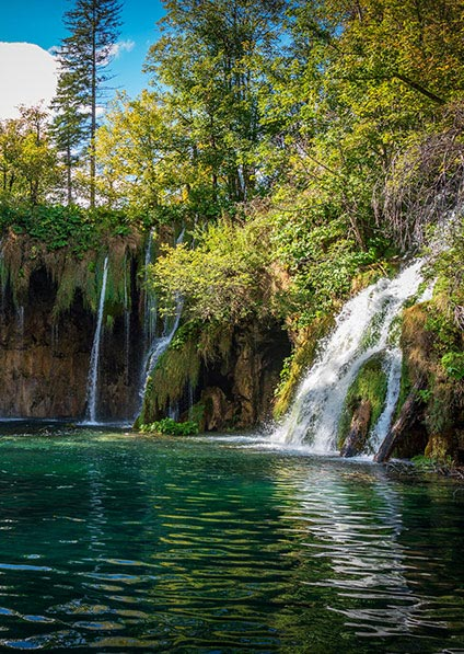 Plitvice lakes and waterfalls is the most popular destination of Croatia