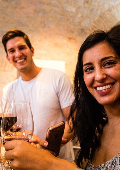 romantic wine tasting during honeymoon in Croatia