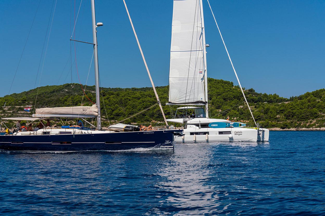 Yacht honeymoon in Croatia
